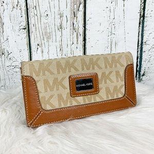 Michael Kors Monogram/Leather Wallet